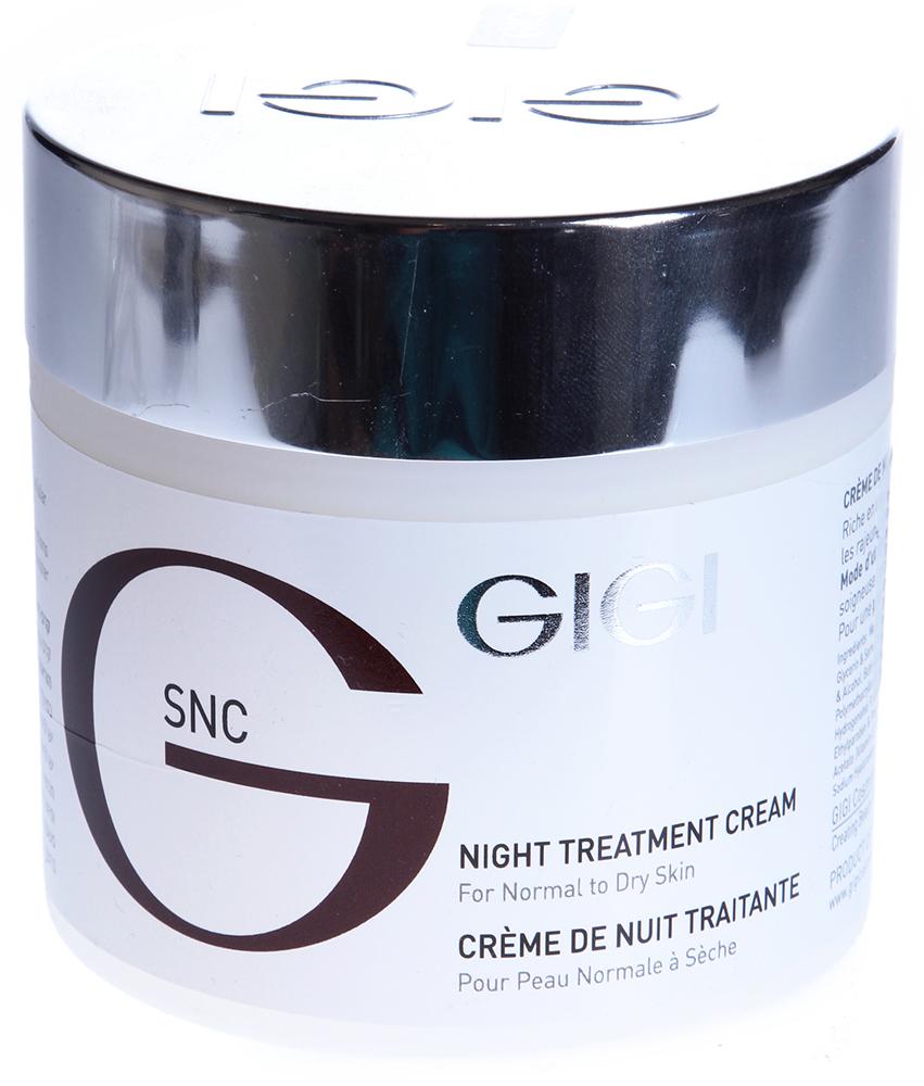 GIGI Крем питательный / Night Treatment Cream SNC 250млКремы<br>Регенерирующий ночной крем отличающийся исключительно комфортной текстурой. Действие: Стимулирует процесс обновления клеток и естественного увлажнения, повышает тонус; кожа становится упругой и нежной, морщины разглаживаются. Нейтрализует ночные свободные радикалы, которые образуются не только под воздействием солнца или загрязненности атмосферы: обменные процессы в кожном покрове, активизирующиеся ночью, также способствуют их образованию. Придает лицу свежий отдохнувший вид. Активные ингредиенты: молочная кислота, мочевина, гидролизированные коллаген, эластин и шелк, гиалуроновая кислота, масло какао, пантенол, витамин Е, масло шиповника, аллантоин. Способ применения: Наносить на тщательно очищенную кожу, предпочтительно перед сном.<br><br>Объем: 250<br>Вид средства для лица: Питательный<br>Назначение: Морщины<br>Время применения: Ночной