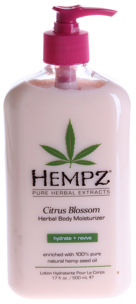 "HEMPZ Молочко увлажняющее для тела ""Лимон"" / Citrus Blossom Herbal Body Moisturizer 500мл"