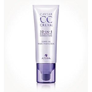 ALTERNA Уход комплексный, корректор для волос / CAVIAR 74млКремы<br>На волне успеха многофункциональных ВВ и СС кремов для кожи, Alterna выпускает свою версию СС крема &amp;mdash; для волос и кожи головы.  Alterna Haircare Caviar CC Cream 10-In-1 Complete Correction   это уход за кожей головы, за волосами и стайлинг одновременно. Средство без смывания. Помогает решить проблему сухости, непослушности и ломкости волос, плюс   оно прекрасно держит укладку. В состав включены: витамин С, экстракт черной икры и морские водоросли.  Действие: Несмываемый чудо крем, который улучшает состояние волос. Один крем решает 10 проблем волос:  -обеспечивает влагу  -блеск -гладкость  -мягкость  -против ломкости  -термозащита волос -легкая фиксация  -защита от ультрафиолета  -делает волосы послушными  -увеличивает прочность волос.  Средство можно использовать, как самостоятельный продукт или в качестве основы для наслоения других продуктов для укладки. Формула крема не содержит парабены, сульфаты, фталаты.  Способ применения: Равномерно нанести на чистые, подсушенные полотенцем волосы. Выполнить укладку. Можно использовать в качестве финишного средства на сухие волосы для дополнительно совершенства.<br><br>Вид средства для волос: Несмываемый<br>Назначение: Выпадение