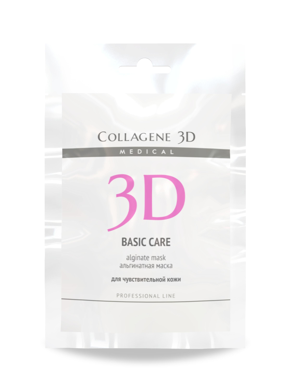 MEDICAL COLLAGENE 3D Маска альгинатная с розовой глиной для лица и тела Basic Care 30грГлины<br>Альгинатная маска BASIC CARE с розовой глиной и маслом чайного дерева создана для заботы о чувствительной и проблемной коже. Розовая глина богата кремнием и другими микроэлементами, является сильным природным средством для борьбы с раздражением, прекрасно смягчает, обладает отбеливающим действием. Розовая глина стимулирует расщепление жиров естественным образом, а также хорошо адсорбирует кожное сало, что делает этот ингредиент актуальным в составе средств для лечения проблемной кожи. Масло чайного дерева обладает широким спектром антибактериального, антигрибкового и антивирусного действия, известно своей способностью очищать раны от гноя и загрязнений, в косметических средствах используется для устранения воспалительных элементов на коже. Эффекты альгинатной маски: подтягивание овала лица, выравнивание цвета, снятие раздражения, устранение воспалительных элементов на коже. Активные ингредиенты: альгинат натрия, розовая глина, масло чайного дерева. Способ применения: перед применением альгинатной маски рекомендуется в качестве концентрата на очищенную кожу нанести коллагеновую гель-маску серии MEDICAL COLLAGENE 3D и сделать легкий массаж. Альгинатную маску подготовить непосредственно перед применением. Порошок смешать с водой комнатной температуры (20-25 С) в пропорции 1:3 до состояния однородной массы. С помощью шпателя равномерно нанести на кожу. Через 15 минут снять маску единым пластом. В завершение процедуры протереть лицо Фитотоником NATURAL FRESH и нанести коллагеновый крем серии MEDICAL COLLAGENE 3D.<br><br>Вид средства для лица: Природные
