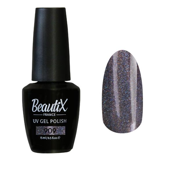 Купить BEAUTIX 909 гель-лак для ногтей 15 мл, Серые