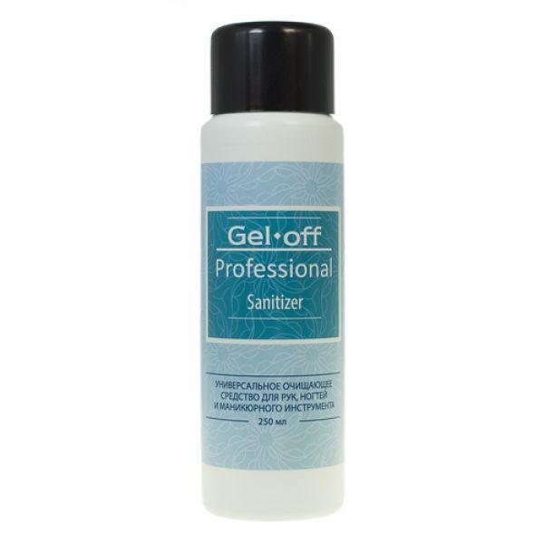 GEL-OFF Средство универсальное очищающее для рук и ногтей с антибактериальным эффектом / Gel Off Professional Sanitizer 250 мл