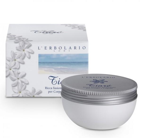 LERBOLARIO Смесь питательная ароматизированная для тела и волос Тиаре 200 млКремы<br>Таитянская гардения   символ острова Таити, чудесный цветок с ярким сладким запахом. Есть поверье, что именно в этих цветах кроется секрет красоты прекрасных таитянок. Цветы Тиаре используются для изготовления основного ингредиента крема  Тиаре    Манои. По традиции, для получения Манои 12 цветков Тиаре настаивают 12 дней в кокосовом масле. Жирная масса, получаемая после тщательной фильтрации, является настоящей панацеей для сохранения красоты тела и волос. Таитянки широко используют получаемое таким образом косметическое средство, и недаром об их восхитительной коже ходят легенды. Именно таитянская маноя стала отличительной особенностью питательной смеси. Применение этого косметического средства с потрясающими смягчающими, питательными, разглаживающими и защитными свойствами позволит и нашим женщинам приобщиться к секретам красоты жительниц Полинезии. Питательная смесь для тела и волос  Тиаре  является великолепным средством ухода даже для самой вялой и безжизненной кожи, которая после применения крема снова приобретает необычайную мягкость и эластичность. Активные ингредиенты: кокосовое масло, масло Манои, масло из отрубей риса, витамин Е. Способ применения: питательная смесь для тела и волос  Тиаре  имеет очень широкий спектр применения, а именно: смесь можно нанести на кожу тела перед принятием ванны или душа в качестве подготовительной операции перед контактом кожи с водой и моющими средствами; после принятия ванны или душа вновь использовать смесь для питания и увлажнения кожи: массировать кожу тела до полного впитывания смеси (при необходимости промокнуть тело полотенцем для удаления избыточного масла); смесь можно использовать в конце летнего дня вместо масла после загара; для придания блеска и мягкости волосам нанести умеренное количество средства по всей длине волос. Оставить смесь на волосах на определенный, по вашему желанию, период (от получаса до целой ночи), затем акк
