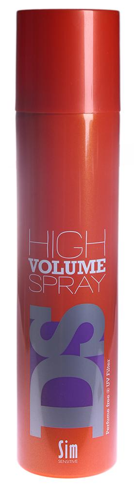 SIM SENSITIVE Спрей Хай Волюм / High Volume Spray DS 300млЛаки<br>Лак для волос &amp;laquo;Хай Вольюм Спрей&amp;raquo; мгновенно создает легкий, но очень значительный объем. Как бы армируя естественную структуру волос, спрей создает объем и делает волосы более плотными и густыми. Лак будет особенно полезен для тонких волос. Поистине беспредельный объем. Не содержит парабен и консерванты и подходит для людей с чувствительной кожей головы и склонностью к аллергическим реакциям. Фиксация: - 3 Объем: - 5 Блеск: - 3 Способ применения: Нанесите на подсушенные или сухие волосы с расстояния 20-30 см и уложите по своему желанию.<br>