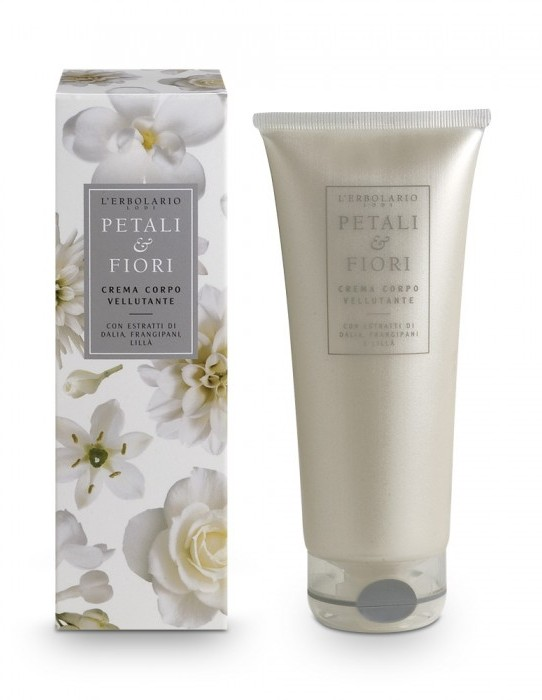 LERBOLARIO Крем для тела бархатистый Лепестки и цветы с экстрактом георгина, плюмерии и сирени 200 мл