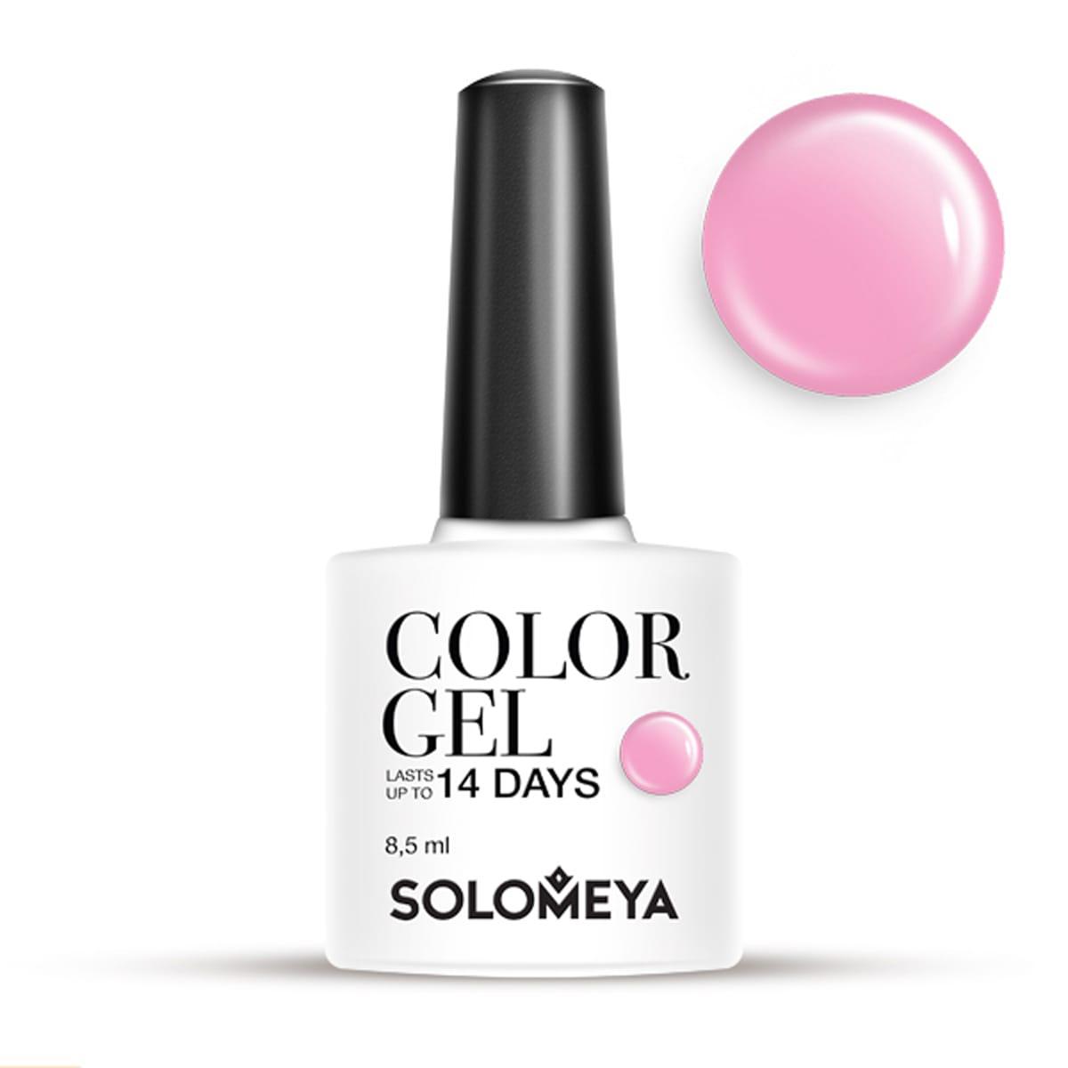 Купить SOLOMEYA Гель-лак для ногтей SCG045 Делия / Color Gel Delia 8, 5 мл, Розовые