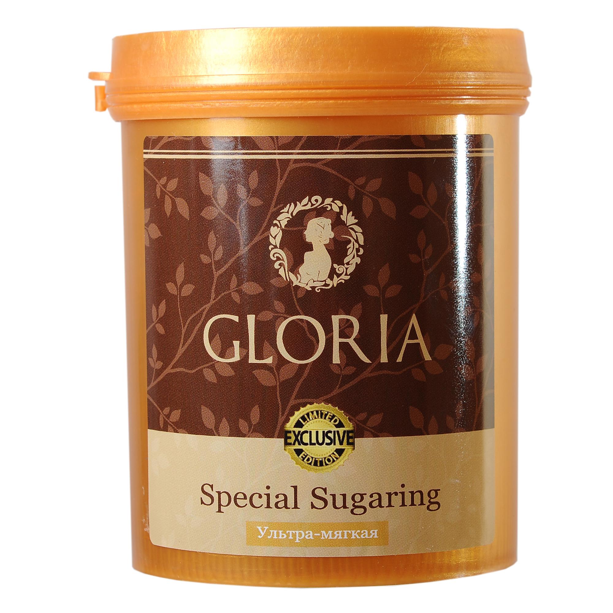 GLORIA Паста для шугаринга Gloria Exclusive ультра мягкая 0,8 кгСахарные пасты<br>Вокруг состава пасты для шугаринга, а точнее наличия или отсутствия в ней лимонной кислоты, ходит много споров. Компания GLORIA приняла решение выпустить пасту GLORIA EXCLUSIVE не только без лимонной кислоты, но и с включением дополнительных полезных ингредиентов. Ультра-мягкая паста для шугаринга Gloria - это профессиональная сахарная паста, предназначенная для эпиляции рук, ног и других участков тела с невысокой температурой тела. Мягкая паста для шугаринга Gloria идеально подходит для мягких и пушковых волос. Также может быть использована для эпиляции в домашних условиях. Преимущества : 1. Не содержит лимонную кислоту 2. Уникальная формула с ионами серебра 3. Абсолютно натуральный продукт 4. Гипоаллергенная&amp;nbsp; 5. Гигиенична 6. Безопасна Активные ингредиенты: вода, глюкоза, фруктоза. Способ применения:&amp;nbsp;на предварительно очищенную и обезжиренную кожу нанести небольшое количество пасты в направлении, противоположном направлению роста волос. Резким движением оторвать пасту вместе с нежелательными волосками, второй рукой натягивая кожу в противоположную сторону. По окончании процедуры остатки пасты удалить влажной салфеткой. Количество процедур:&amp;nbsp;25-30<br><br>Объем: 0,8 кг<br>Вид средства для тела: Сахарный<br>Класс косметики: Профессиональная<br>Консистенция: Мягкая