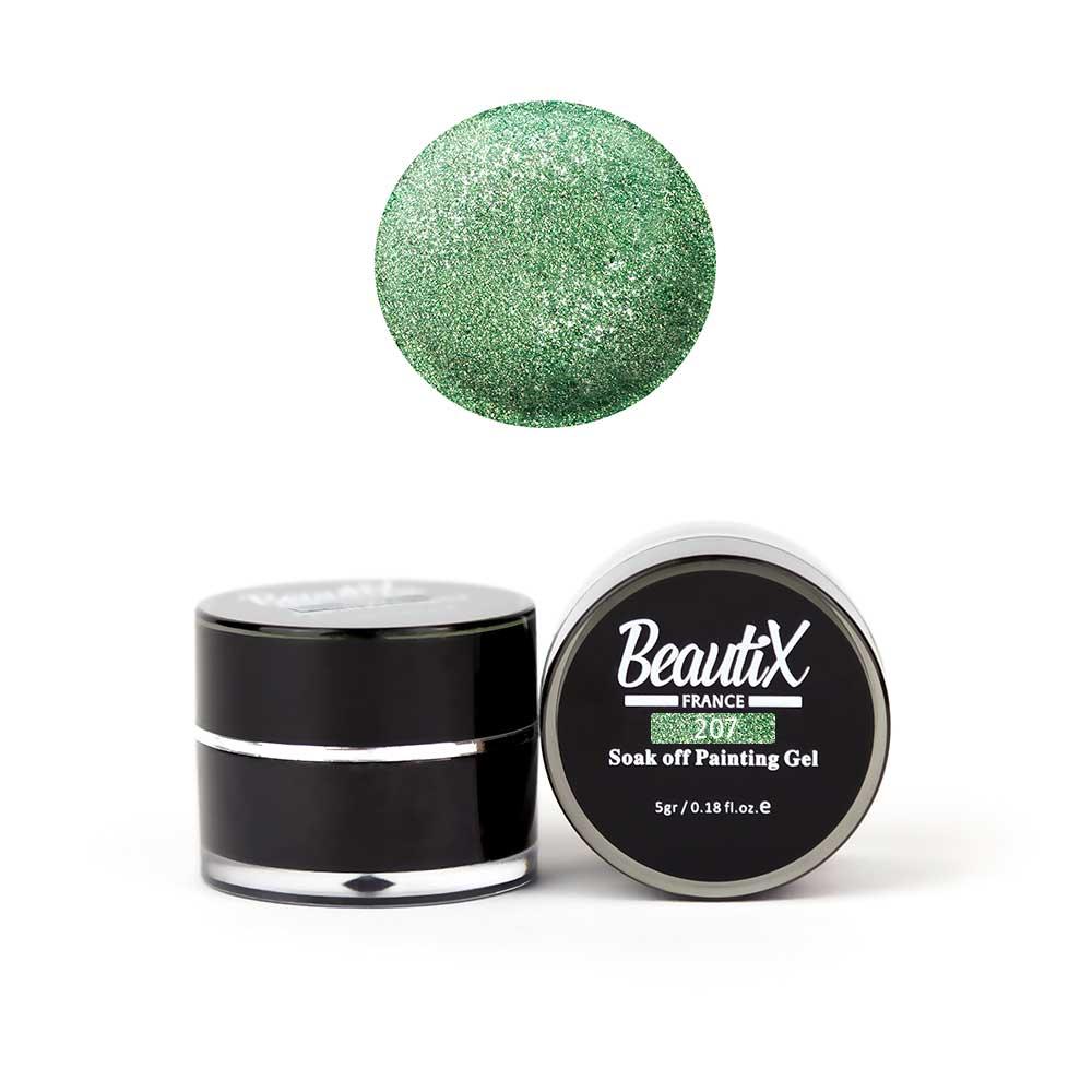 Купить BEAUTIX Глиттер среднезернистый, 207 зеленый / Gel Painting Glitz 5 г