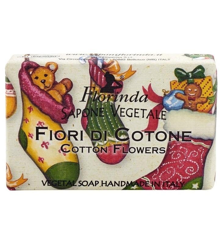 Купить FLORINDA Мыло растительное, цветы хлопка / Fiori Di Cotone 100 г