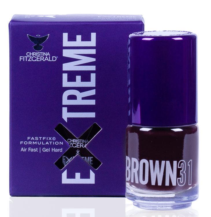 Купить CHRISTINA FITZGERALD Лак для ногтей 31 / BROWN EXTREME 15 мл, Коричневые