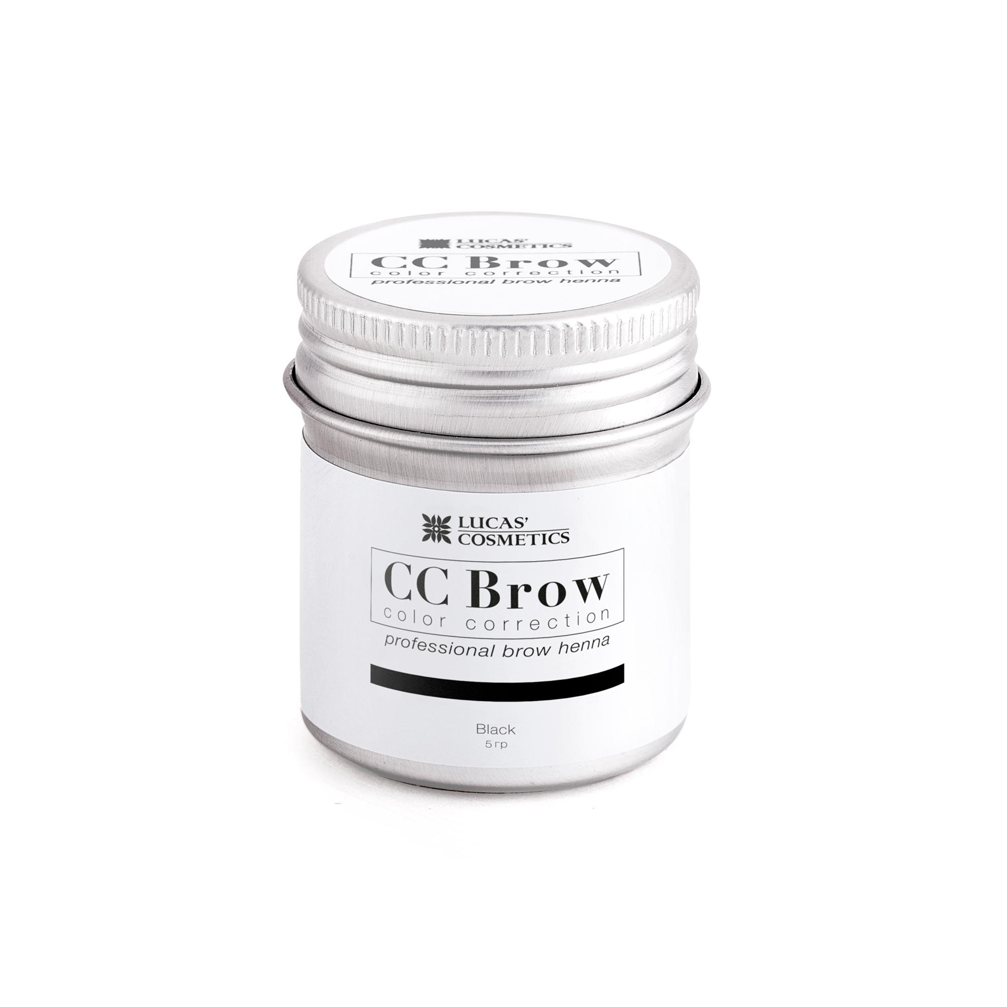 LUCAS' COSMETICS Хна для бровей, черный (в баночке) / CC Brow black 5 г - Хна для бровей