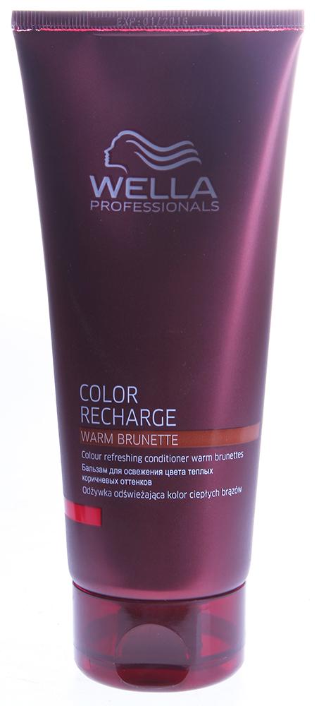 WELLA Бальзам оттеночный для освежения цвета теплых коричневых оттенков / Color Recharge 200млБальзамы<br>Бальзам для сохранения и поддержания цвета теплых коричневых оттенков. Активные ингредиенты интенсивно увлажняют волосы и делают их мягкими и блестящими. С красящими пигментами. Идеально подходит для работы с красителями Wella Professionals и линией для окрашенных волос Brilliance. Способ применения: равномерно нанести небольшое количество шампуня мягкими массажными движениями на влажные волосы и вспенить. Оставить на 3-5 минут, тщательно смыть.<br><br>Цвет: Бежевый и коричневый<br>Вид средства для волос: Оттеночный<br>Типы волос: Окрашенные