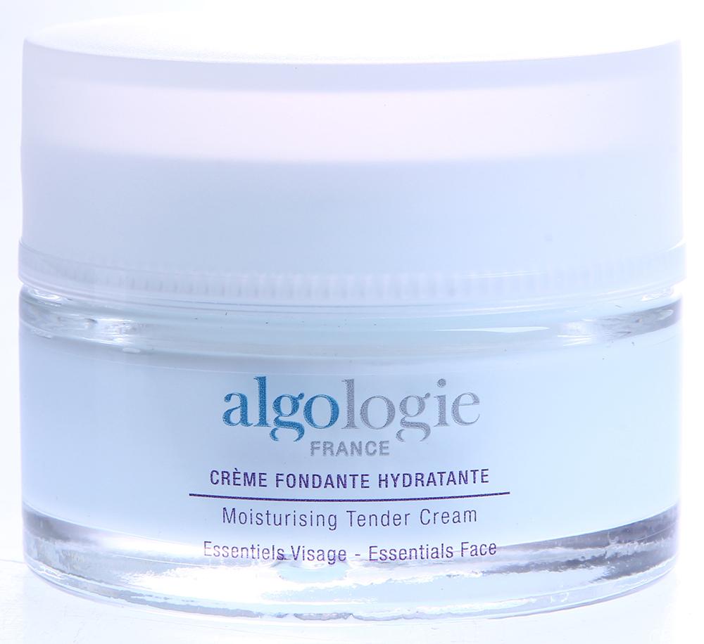 ALGOLOGIE Крем нежный увлажняющий 50млКремы<br>Нежный увлажняющий крем полностью соответствует потребностям нормальной кожи, а в осенне-весенний период хорошо подходит для всех типов кожи. Крем для лица имеет голубой цвет и легкую, бархатистую консистенцию. Он заметно улучшает обменные процессы в коже, повышая ее упругость и эластичность, образует защитный слой, обладает влагоудерживающими и иммуномодулирующими свойствами, активизирует синтез гиалуроновой кислоты и коллагена, оказывает мощное антиоксидантное воздействие, предотвращает потерю воды, усиливает эпидермальный липидный барьер, успокаивает, регенерирует и укрепляет кожу. Активные ингредиенты: Algo3 Complex (вода Гольфстрима, морские водоросли Хондрус Криспус и Alaria Esculenta), экстракты морского критмума, кодиум и Солероса, гиалуронат натрия, сок Алоэ Вера, экстракт огурца, витамин F, масло сладкого миндаля.  Способ применения: Наносить на очищенную кожу лица, шеи и декольте утром и/или вечером в зависимости от состояния кожи. Для усиления увлажняющего эффекта дополнительно применяйте ежедневно Увлажняющую сыворотку под Крем и 1-3 раза в неделю Крем-маску увлажняющую.<br>