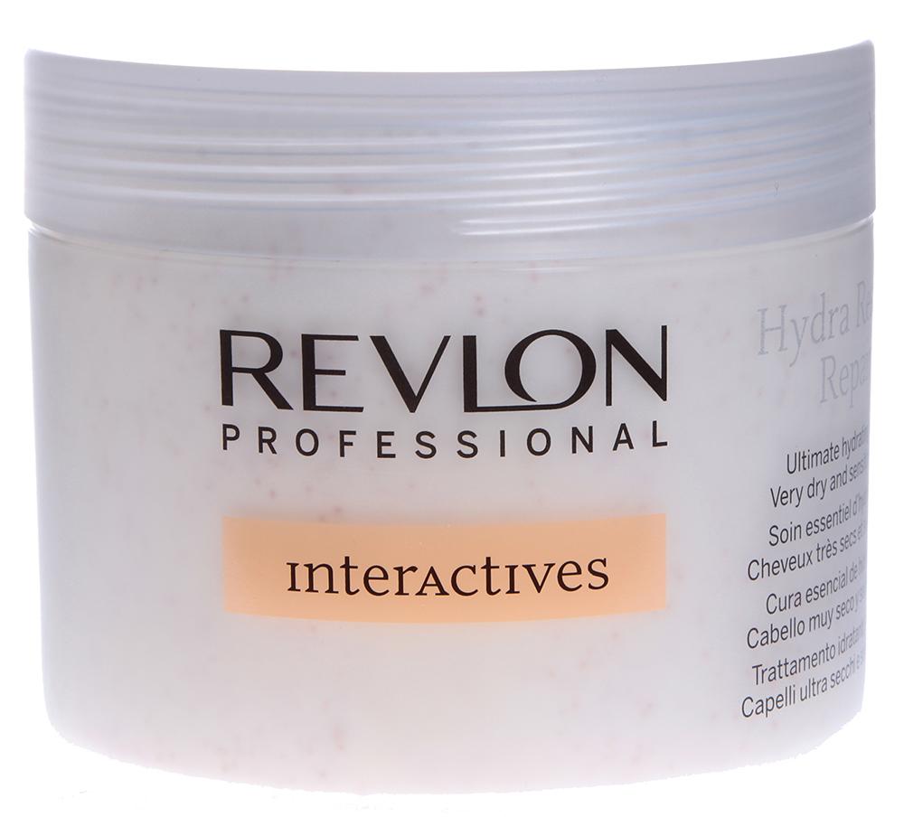 REVLON Уход увлажняющий профессиональный / INTERACTIVES HYDRA RESCUE 450млКремы<br>Крем для блеска волос Hydra Rescue Treatment предназначен для интенсивного увлажнения, способствует регенерации слабых и поврежденных волос. Средство увлажняет волосы изнутри, укрепляет их структуру и предотвращает ломкость. В состав крема включен витаминный комплекс, который усиленно питает кожу головы и волосяные луковицы. Питательные вещества насыщают истонченную фибру волос, останавливая и предотвращая процесс их разрушения. Крем смягчает жесткие волосы, делая их податливыми и эластичными, локоны становятся шелковистыми, начинают блестеть здоровым натуральным блеском.  Активные ингредиенты: Система Hydra Capture, креатин, масло жожоба, витамины E, A, B8 и H, экстракт химанталии.  Способ применения: После применения шампуня, нанесите небольшое количество средства на руки и распределите по влажным волосам. Оставьте крем на 3-5 минут на волосах, а затем смойте.<br><br>Вид средства для волос: Увлажняющий<br>Класс косметики: Профессиональная