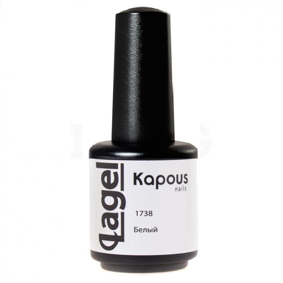 Купить KAPOUS Гель-лак для ногтей, белый / Lagel 15 мл