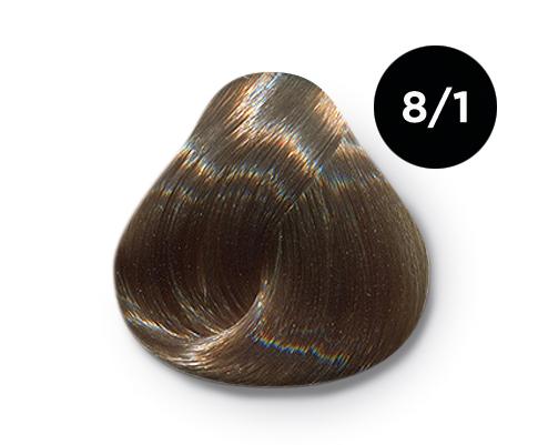 OLLIN PROFESSIONAL 8/1 краска для волос, светло-русый пепельный / OLLIN COLOR 60 мл