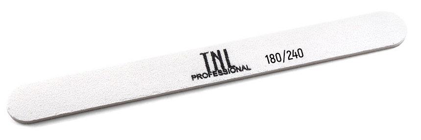 Пилка узкая для ногтей 180/240, белая (в индивидуальной упаковке)