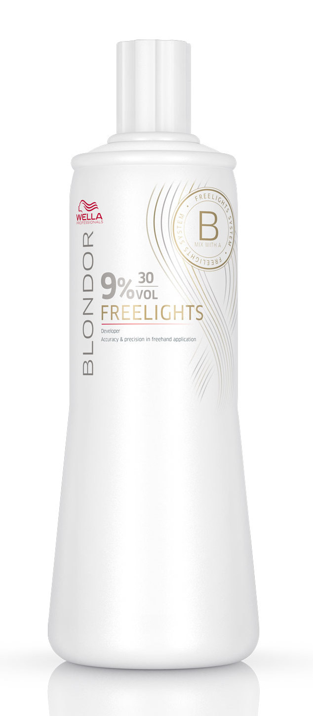 WELLA Окислитель / Blondor Freelights 9% 1000 мл краска для волос wella professionals blondor freelights white lightening powder 400 гр