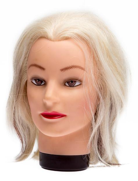 DEWAL PROFESSIONAL Голова учебная блондинка, натуральные волосы 20-30 см