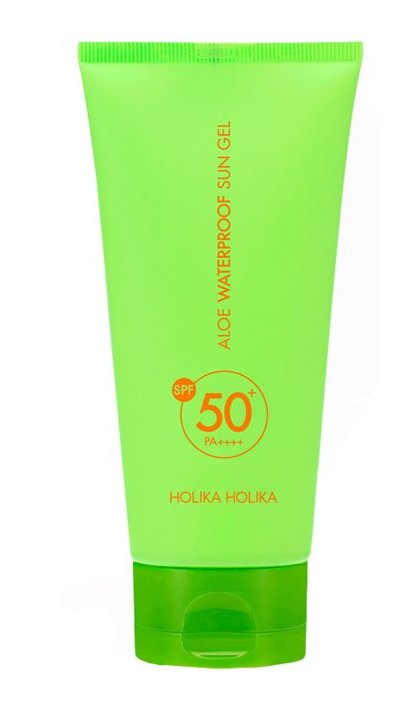 HOLIKA HOLIKA Гель солнцезащитный Алоэ / Aloe Waterproof Sun Gel SPF50+PA++ 100мл маска holika holika aloe 99% soothing gel jelly mask sheet