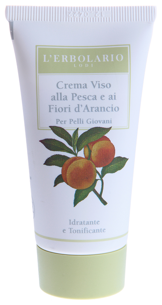 LERBOLARIO Крем для лица с персиком и цветами апельсинового дерева для молодой кожи 50 мл