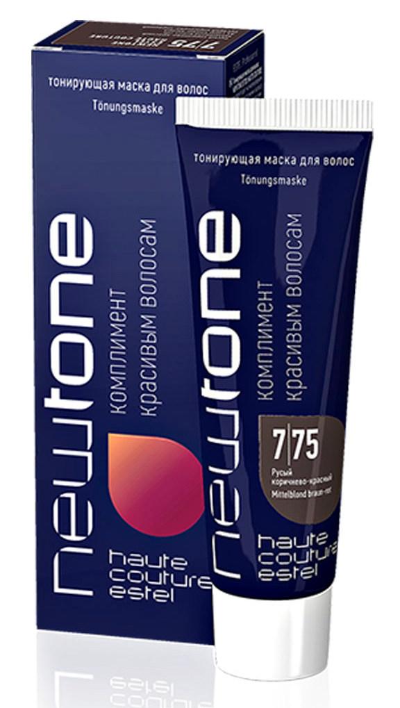 Купить ESTEL HAUTE COUTURE 7/75 маска тонирующая для волос, русый коричнево-красный / NEWTONE 60 мл