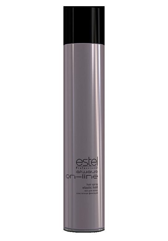 ESTEL PROFESSIONAL Лак для волос эластичной фиксации / Always On-Line 400млЛаки<br>Идеально подходит для создания сложных форм при помощи локонов и волн. Пряди, обработанные лаком эластичной фиксации и накрученные на горячие щипцы, становятся послушными и хорошо укладываются в волны, тем самым создавая пластичную основу для будущей укладки или прически. Лак хорошо держит форму. Способ применения:&amp;nbsp;распылить лак с расстояния 30 см. на сухие волосы равномерно или на отдельные пряди.<br><br>Типы волос: Сухие