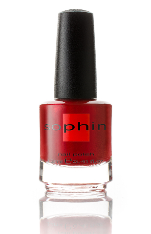SOPHIN Лак для ногтей, шиммерный ярко-красный 12мл