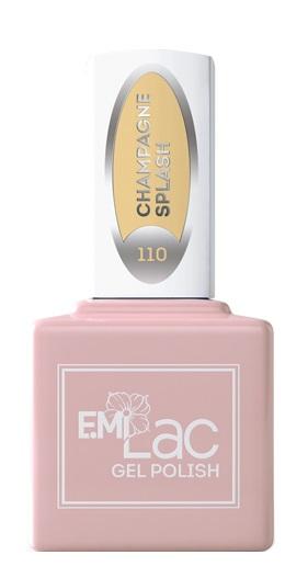 Купить E.MI 110 SD гель-лак для ногтей, Брызги шампанского / E.MiLac 6 мл, Желтые
