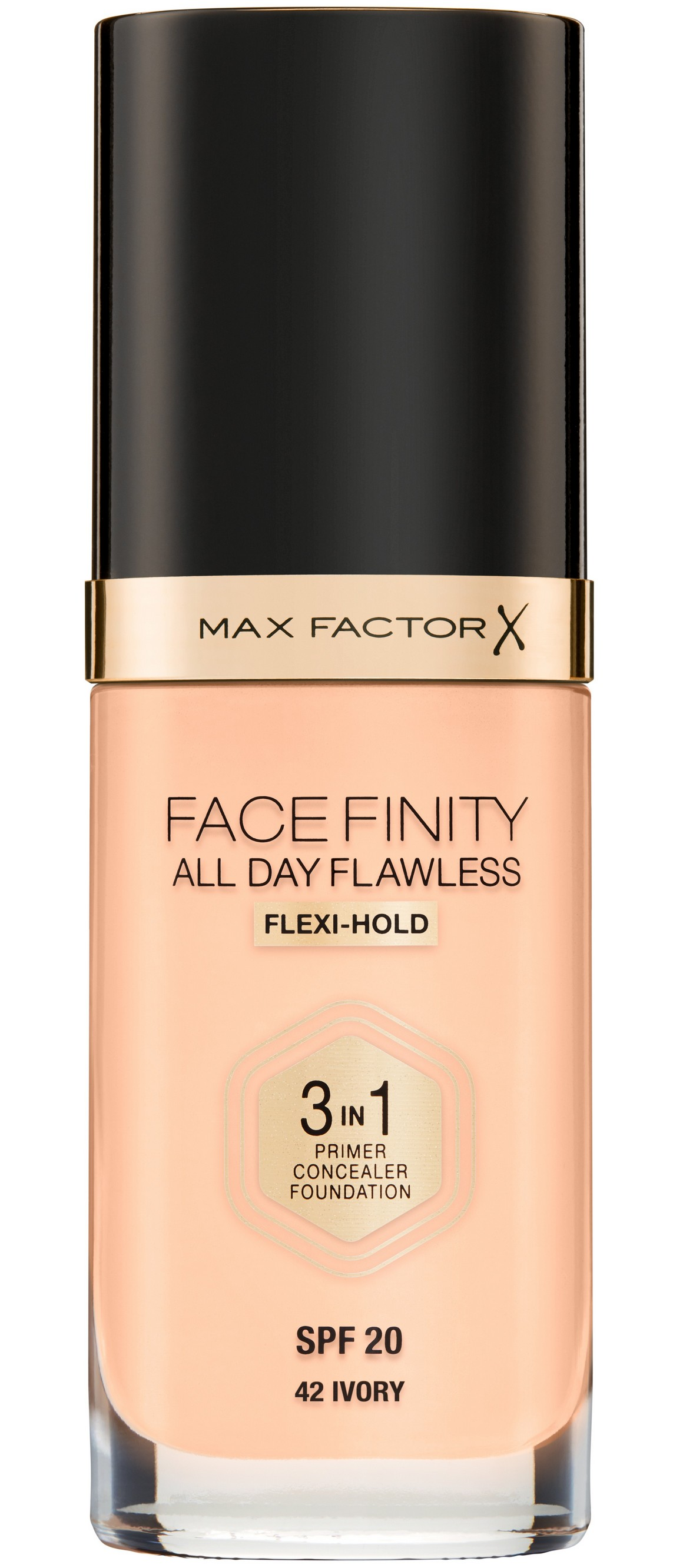 MAX FACTOR Основа тональная 42 / Facefinity All Day Flawless 3-in-1 ivory 30 мл фото