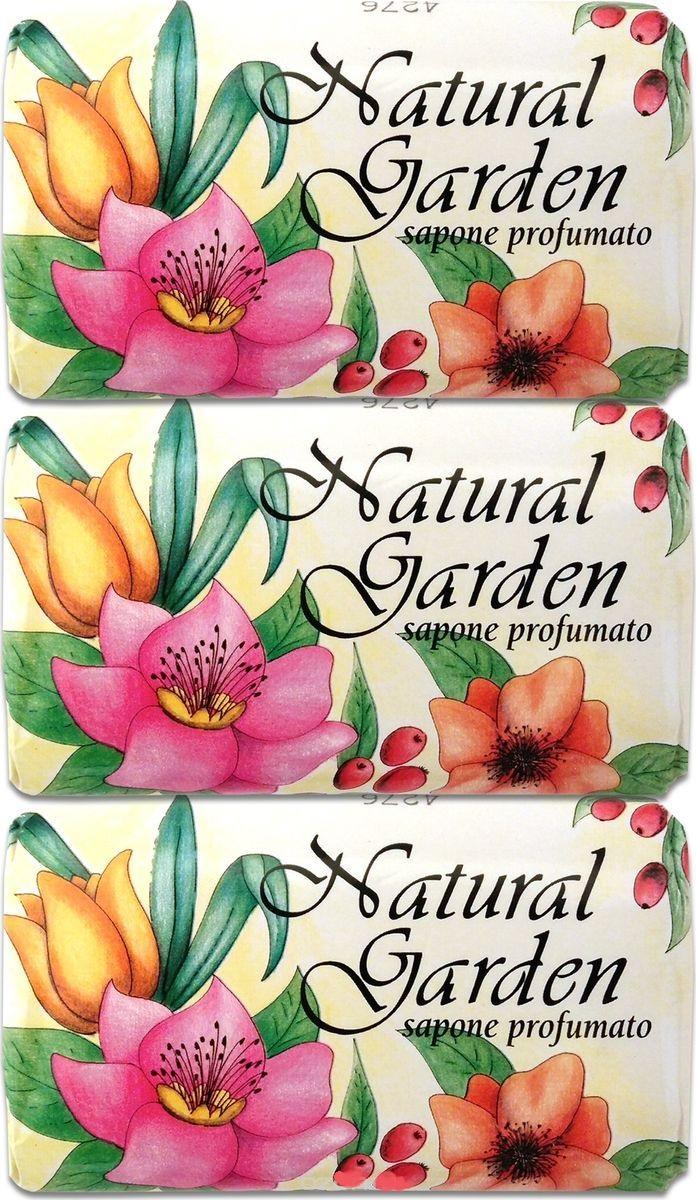 NESTI DANTE Набор душистого мыла для тела Природный сад / Natural Garden Profumato 3*125 г -  Мыла