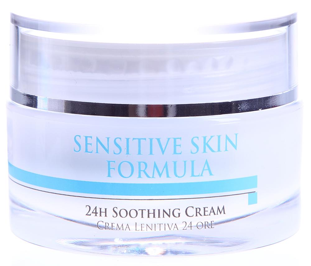 HISTOMER Крем успокаивающий 24 часа для чувствительной кожи / 24h Soothing Cream SENSITIVE SKIN FORMULA 50млКремы<br>В течение дня защищает капилляры кожи от вредных воздействий агрессивной окружающей среды. Улучшает повержностное кровообращение. Устраняет покраснения и мелкие мимические морщины. Щедро увлажняет кожу и дарит необычные комфортные ощущения. Во время ночного отдыха нормализует клеточное дыхание кожи, активизирует биологические механизмы регенерации, нейтрализует действие свободных радикалов. Кожа снова сияет здоровьем и готова к новому дню.  Активные ингредиенты: Хистомерные клетки корней дуба, восстановительный комплекс Repair Complex CLR (Лизат бифидобактерий), экстракты кувшинки белой и иглицы шиповатой, HFM (Hyllauronic Filled Microspheres &amp;mdash; Микросферы с гиалуроновой кислотой), витамины E и С, гликозаминогликаны (основная составляющая матрикса дермы, устраняет признаки купероза, обладает максимальным потенциалом увлажнения и стимуляции).  Способ применения: Наносить утром и вечером после очищения кожи с помощью Очищающего геля Sensitive Skin.<br><br>Объем: 50<br>Вид средства для лица: Успокаивающий<br>Типы кожи: Чувствительная<br>Назначение: Морщины<br>Время применения: 24 часа