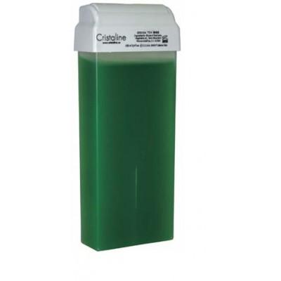 CRISTALINE Воск с зеленым чаем в катридже 100млВоски<br>Воск на основе натуральных ингредиентов со сбалансированной формулой, содержащей экстракт зеленого чая, обеспечивает превосходный результат процедуры депиляции. Глицерил расинат высокой степени очистки обеспечивает быстрое застывание воска. Зеленый чай, входящий в состав воска, оказывает противовоспалительное и тонизирующее действие, увлажняет кожу и стимулирует процессы регенерации. Благодаря легкой текстуре воск наносится на кожу тонким слоем, что обеспечивает экономичный расход. Способ применения: благодаря легкой текстуре, наносится на кожу тонким слоем, что обуславливает экономичный расход. Используется для депиляции на больших поверхностях (ноги, руки, спина). Рабочая температура +37 градусов.<br>