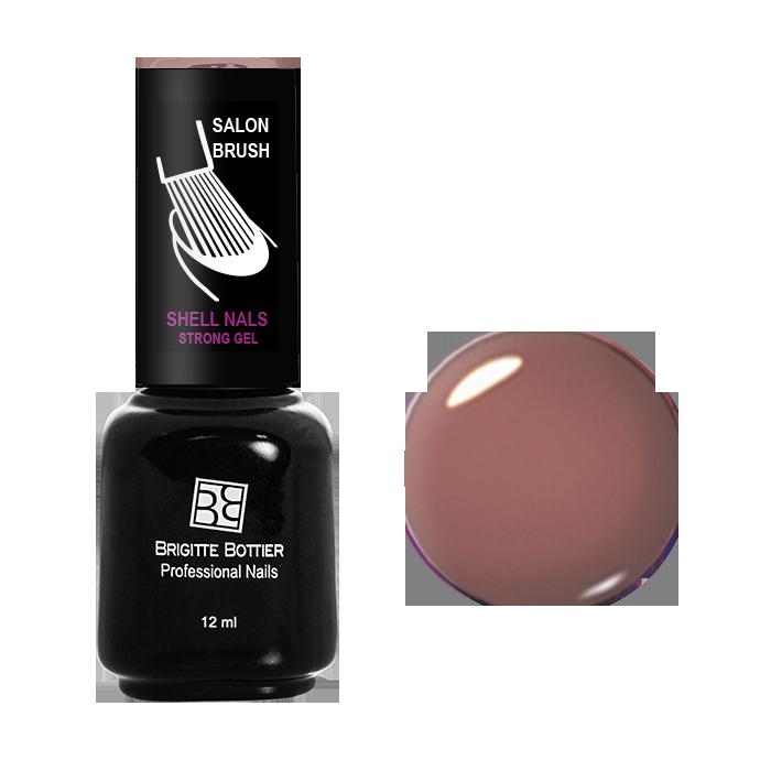 BRIGITTE BOTTIER 968 гель-лак для ногтей Коричнево-розовый / Shell Nails 12мл