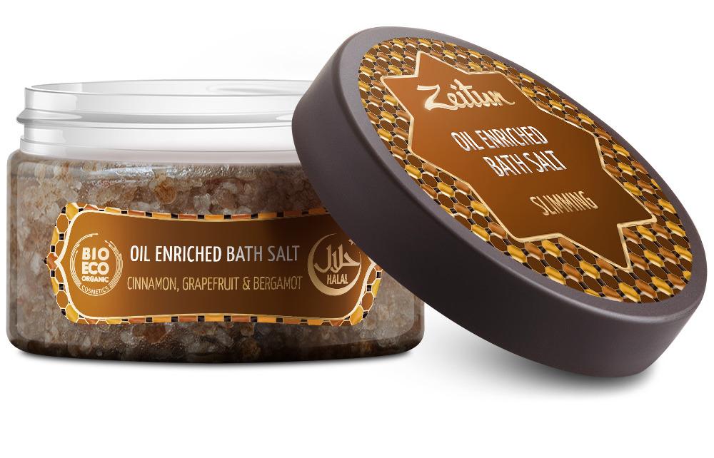 ZEITUN Аромасоль для ванн Для похудения (опунция, грейпфрут, бергамот, корица) 250 г