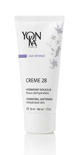 YON KA Крем Creme 28 / AGE DEFENSE 50млКремы<br>Этот отличный витаминизированный, хорошо увлажняющий крем, который прекрасно подойдет обезвоженной коже сухого и жирного типа. Превосходно справляется с разглаживанием морщин. Это прекрасный способ для борьбы с обезвоженностью. Крем всячески препятствует процессу шелушения. Он возвращает коже необходимую эластичность, хорошо смягчая ее. Для обезвоженной кожи любого типа . Активные ингредиенты: аллантоин, витамины А, Е, F, увлажняющий фактор, лецитин, эфирные масла лаванды, розмарина, кипариса, герани, тимьяна. Способ применения: наносят утром на очищенную кожу шеи и лица, после использования лосьона Yon-Ka.<br><br>Вид средства для лица: Увлажняющий<br>Назначение: Морщины