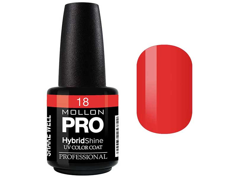 MOLLON PRO Гель-лак для ногтей УФ / HybridShine UV Color Coat  18 15мл
