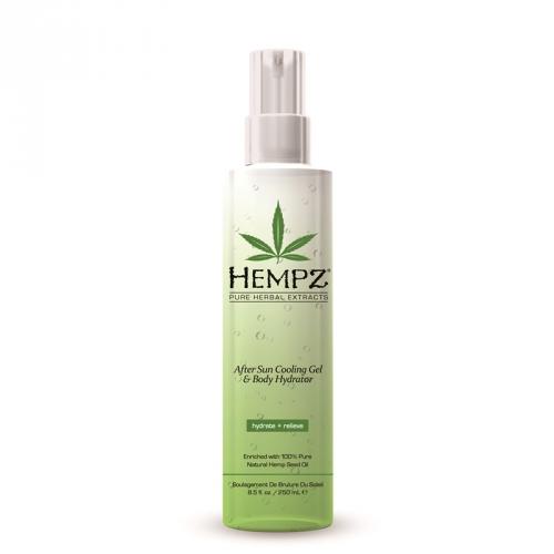 HEMPZ Спрей охлаждающий после загара / After Sun Cooling Spray 250млСпреи<br>Увлажняющий охлаждающий спрей для тела после загара с Алоэ вера и запатентованной формулой Superfruit Hydro-Sun Complex&amp;trade;. Быстро впитывается, увлажняет, обладает охлаждающим и заживляющим эффектом, освежает, успокаивает, питает и восстанавливает гидро-баланс кожи.  Активные компоненты: Чистое натуральное Масло семян конопли, экстракт Алоэ Вера, Superfruit Hydro-Sun Complex , натуральный Ментол.  Способ применение: Распылить на участки кожи после загара для успокоения, увлажнения и обезболивания.<br>