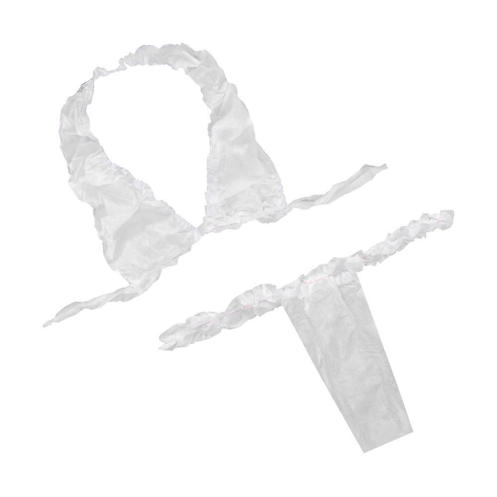 IGRObeauty Комплект бюстье + трусики с рюшей, цвет белый