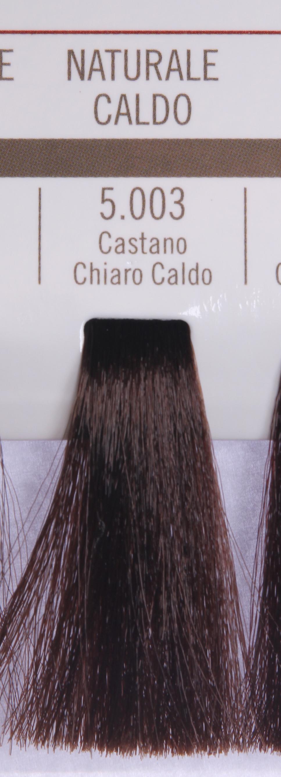 BAREX 5.003 краска для волос / PERMESSE 100млКраски<br>Оттенок: Светлый каштан теплый. Профессиональная крем-краска Permesse отличается низким содержанием аммиака - от 1 до 1,5%. Обеспечивает блестящий и натуральный косметический цвет, 100% покрытие седых волос, идеальное осветление, стойкость и насыщенность цвета до следующего окрашивания. Комплекс сертифицированных органических пептидов M4, входящих в состав, действует с момента нанесения, увлажняя волосы, придавая им прочность и защиту. Пептиды избирательно оседают в самых поврежденных участках волоса, восстанавливая и защищая их. Масло карите оказывает смягчающее и успокаивающее действие. Комплекс пептидов и масло карите стимулируют проникновение пигментов вглубь структуры волоса, придавая им здоровый вид, блеск и долговечность косметическому цвету. Активные ингредиенты:&amp;nbsp;Сертифицированные органические пептиды М4 - пептиды овса, бразильского ореха, сои и пшеницы, объединенные в полифункциональный комплекс, придающий прочность окрашенным волосам, увлажняющий и защищающий их. Сертифицированное органическое масло карите (масло ши) - богато жирными кислотами, экстрагируется из ореха африканского дерева карите. Оказывает смягчающий и целебный эффект на кожу и волосы, широко применяется в косметической индустрии. Масло карите защищает волосы от неблагоприятного воздействия внешней среды, интенсивно увлажняет кожу и волосы, т.к. обладает высокой степенью абсорбции, не забивает поры. Способ применения:&amp;nbsp;Крем-краска готовится в смеси с Молочком-оксигентом Permesse 10/20/30/40 объемов в соотношении 1:1 (например, 50 мл крем-краски + 50 мл молочка-оксигента). Молочко-оксигент работает в сочетании с крем-краской и гарантирует идеальное проявление краски. Тюбик крем-краски Permesse содержит 100 мл продукта, количество, достаточное для 2 полных нанесений. Всегда надевайте подходящие специальные перчатки перед подготовкой и нанесением краски. Подготавливайте смесь крем-краски и молочка-оксигента Permesse в неме