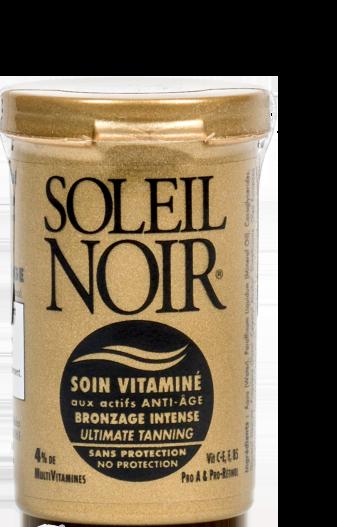 SOLEIL NOIR Крем антивозрастной витаминизированный Ультра-загар / SOIN VITAMINE 20млКремы<br>Компактный витаминизированный крем для лица SOLEIL NOIR обеспечивает питание, увлажнение и профилактику преждевременного старения кожи в любое время года. В период высокой солнечной активности и на отдыхе его рекомендуется использовать обладателям темной или загорелой кожи, а при низкой солнечной активности   всем без ограничения, в качестве универсального дневного крема для лица. Активные ингредиенты:   Витамины Е и F с жирными кислотами Омега-3 оказывают антиоксидантное действие   Витамины C-E, F, pro-А предотвращают образование свободных радикалов   Бета-каротин (Pro-Retinol)  мощный антиоксидант, защищает от солнечного излучения, помогает получить ровный и стойкий загар и предотвратить старение кожи   Провитамин В5 способствует регенерации, повышению эластичности и смягчению кожи   Масла оливы, зародышей пшеницы и бурачника питают и восстанавливают Способ применения: нанести на очищенную кожу лица. При интенсивном солнечном излучении обновлять крем каждые 2 часа.<br><br>Вид средства для лица: Антивозрастной<br>Возраст применения: После 25<br>Типы кожи: Для всех типов