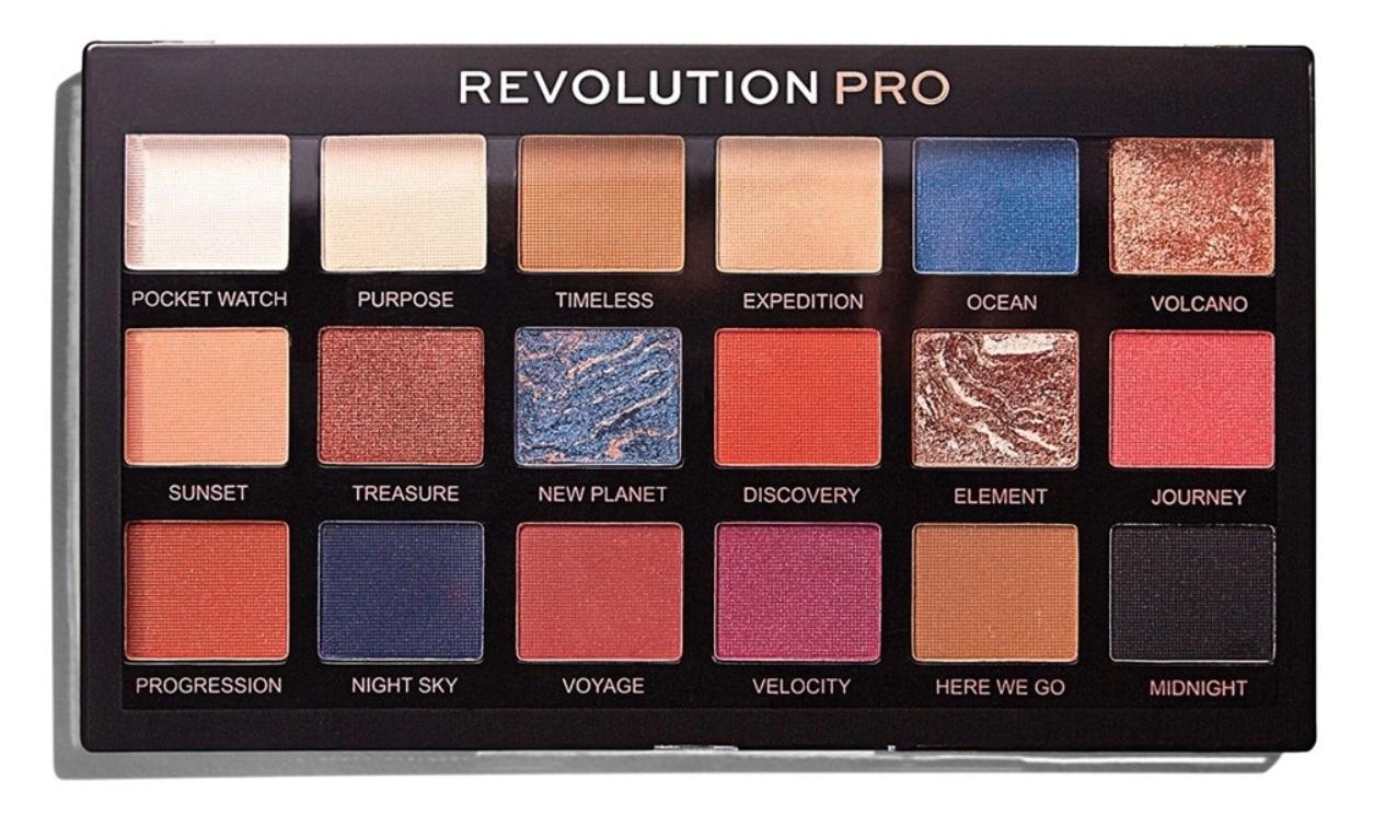 Купить REVOLUTION PRO Палетка теней для век, тон Trends Azure / Regeneration Palette 14, 4 г