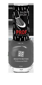 BRIGITTE BOTTIER 823 лак для ногтей, темно-серый искрящийся / PROF FORMULA 12 мл
