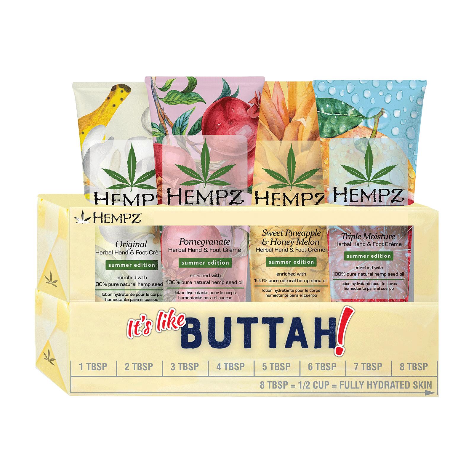 Купить HEMPZ Набор питательных кремов для рук и ног / It's Like Butta - H Gift Set 4 х 66 мл