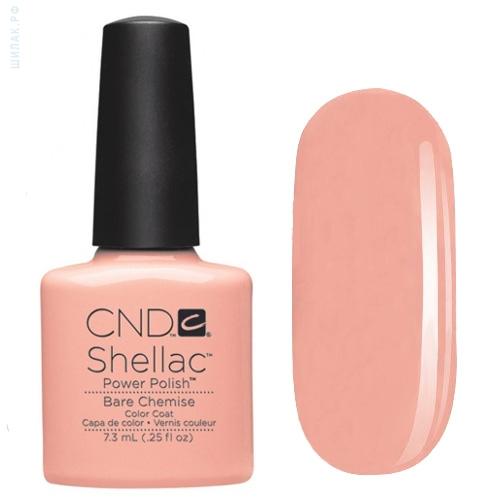 CND 083 покрытие гелевое / Bare Chemise SHELLAC 7,3 мл - Гель-лаки