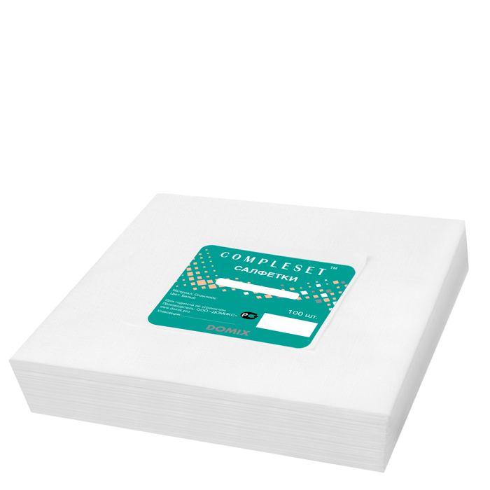 Купить DOMIX Салфетка в сложении 30х40 см спанлейс 40 г/м2 белая 100 шт/уп