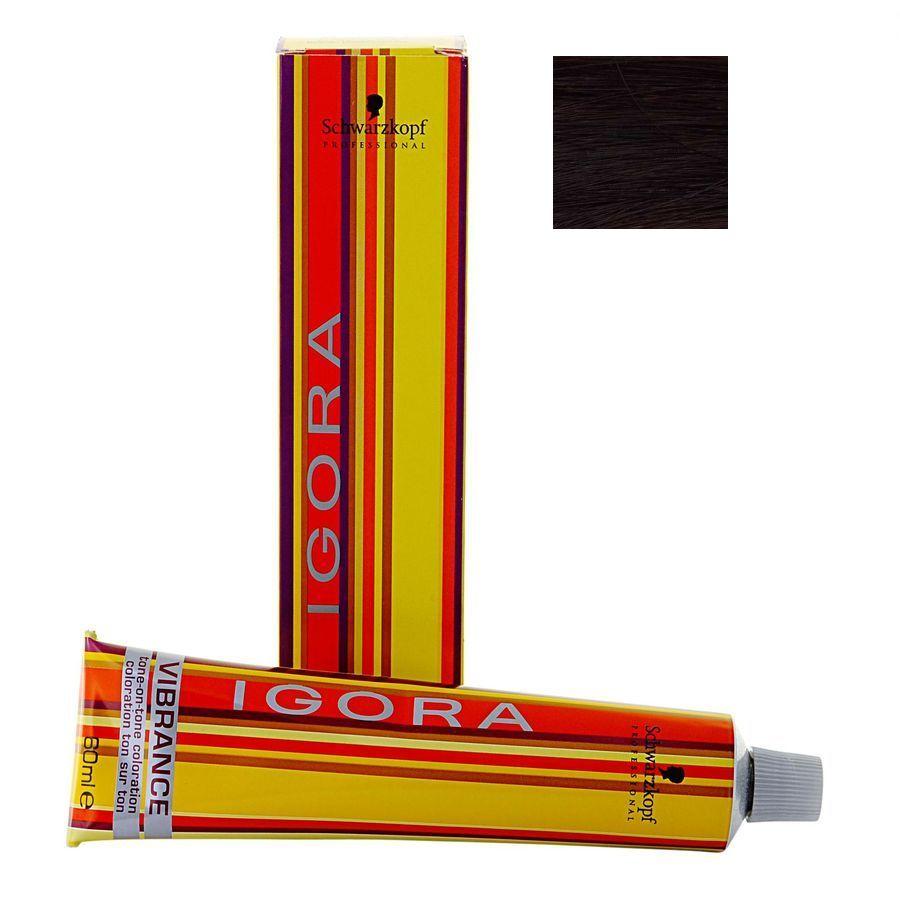 SCHWARZKOPF PROFESSIONAL 4-89 краска для волос / Игора Вайбранс 60млКраски<br>Оттенок: Средний коричневый красный фиолетовый. Краска без аммиака для интенсивных натуральных оттенков. Содержит интенсивный ухаживающий комплекс с витаминами и липидами для укрепления структуры волос, однородного интенсивного цвета и блеска. Использовать для: &amp;bull; достижения модных насыщенных оттенков;   интенсивных натуральных оттенков;   окрашивания волос с содержанием седины до 70%;   дуальной системы применения (выравнивания цвета на пористой длине и концах волос);   пастельного тонирования осветленных и мелированных волос;   индивидуального цвета - все оттенки смешиваются.   Способ применения: Используйте лосьон 4%/13Vol на участке отросших волос и лосьон 1.9%/6Vol на длине и концах. Смешайте крем-краситель Igora Vibrance с лосьоном - окислителем Igora Vibrance. Пропорция смешивания 1:2 (30 мл красителя и 60 мл лосьона). Для окрашивания интенсивными оттенками не требуется дополнительное количество лосьона-окислителя. Используйте одноразовые перчатки. Применяйте на сухие чистые волосы. Первое применение. Равномерно нанесите смесь от корней к концам. Время воздействия: 10 - 20 минут без применения дополнительно тепла. 5-15 минут с применением дополнительного тепла. Второе применение: на отросшие волосы Краски Игора Вайбранс. Сначала нанесите смесь на корни, оставьте воздействовать на 10-15 минут без дополнительного тепла (5-10 минут с дополнительным теплом). После нанесите смесь по длине волос и на концы и оставьте воздействовать на 5-10 минут. Тщательно промойте волосы с помощью шампуня BC bonacure Color Seal Shampoo.<br>