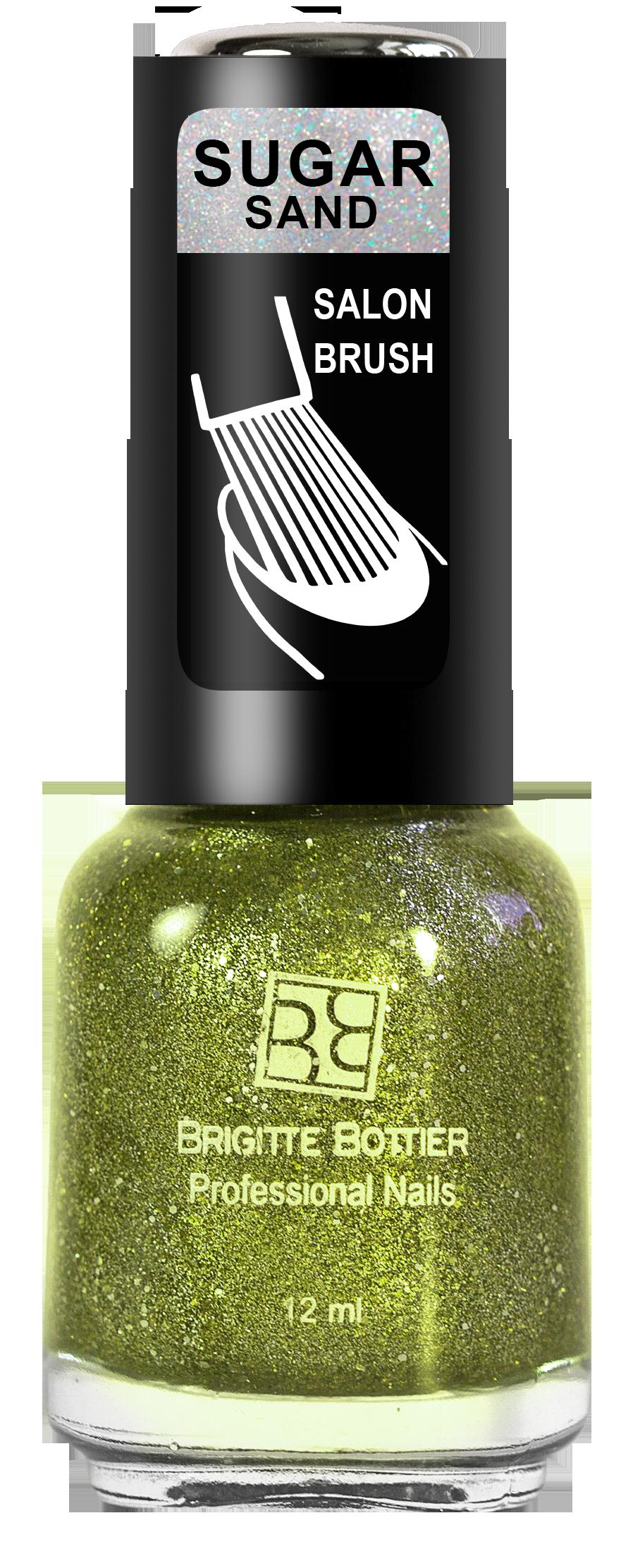 Купить BRIGITTE BOTTIER 312 лак для ногтей фактурный, искрящийся желтый / SUGAR SAND 12 мл, Желтые