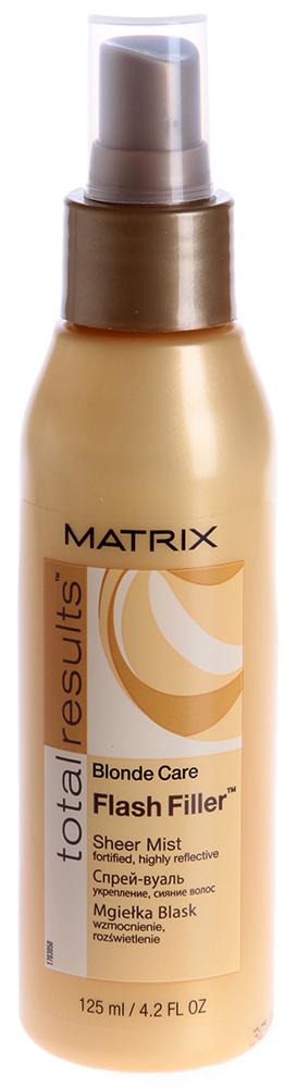 MATRIX Спрей-вуаль для натуральных и окрашенных светлых волос Флеш Филлер / ТР БЛОНД КЕАР 125мл