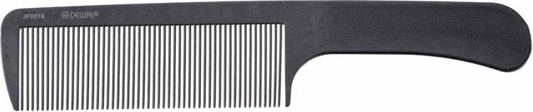 DEWAL PROFESSIONAL Расческа рабочая для стрижки под машинку, микрофибра с силиконом, антистатик (серая) 25,8 см